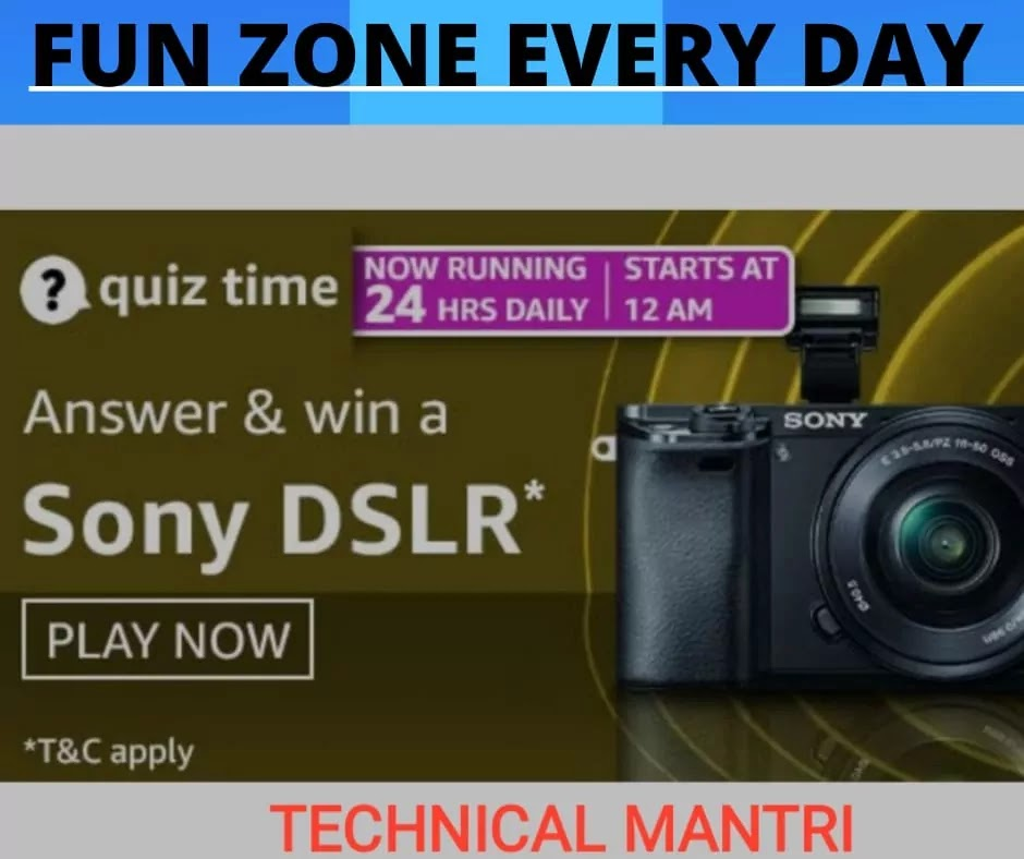 Amazon quiz answers today for 31th March 2021: Win Sony DSLR