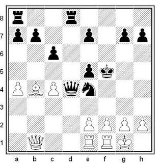 Posición de la partida de ajedrez Vukovic - Markovic (Medulin, 1999)