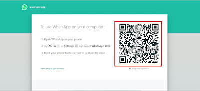 kode Whatsapp web di laptop