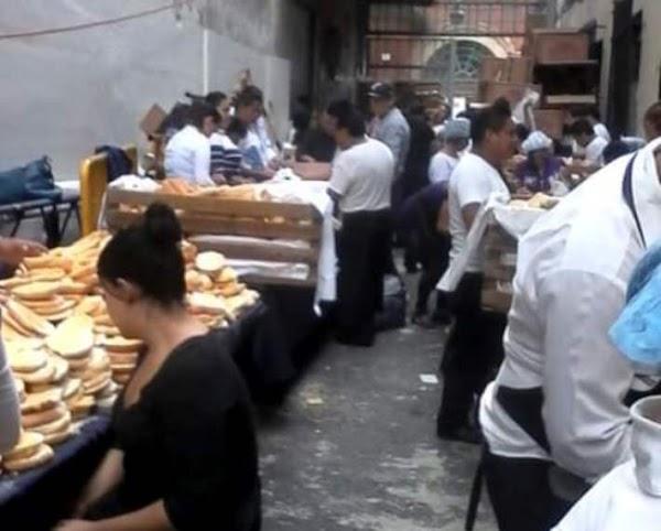 'Callejón de las tortas', donde prepararon alimentos para acarreados del Grito de Peña
