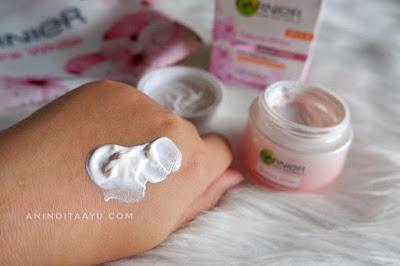 garnier sakura white whitening serum cream spf 21