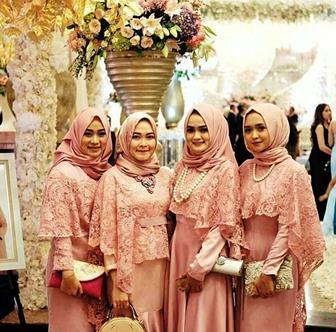 Model Kebaya Brokat Muslim Syar'i Cantik Elegan