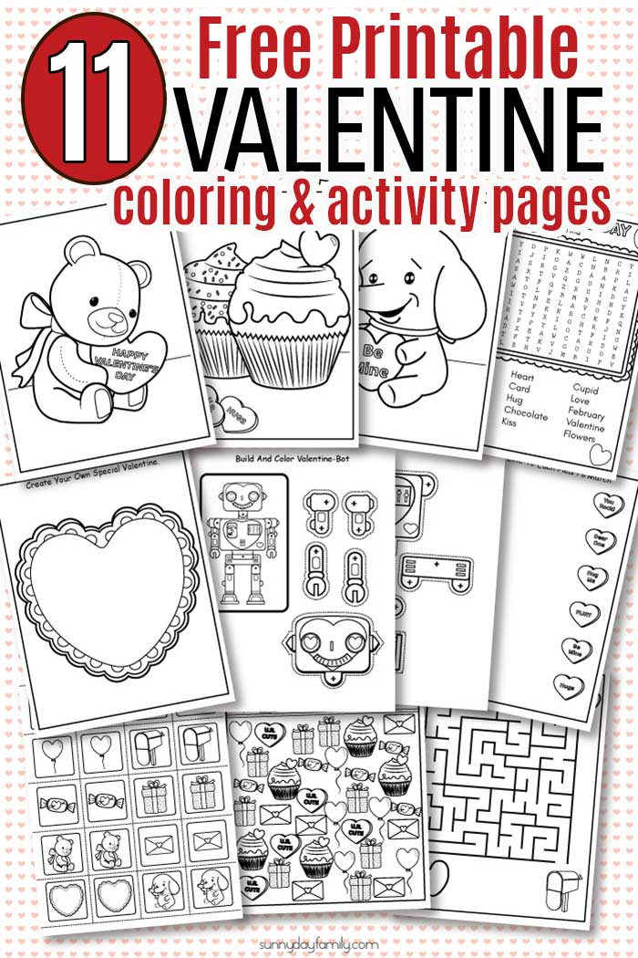 Free Printable Valentine Coloring Pages Activity Sheets For Kids Sunny Day Family