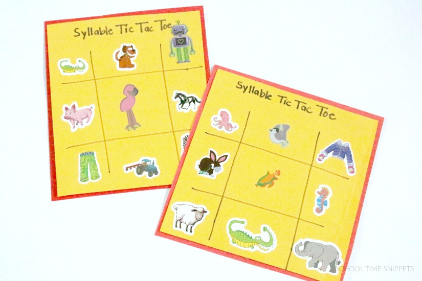 counting syllables reading game