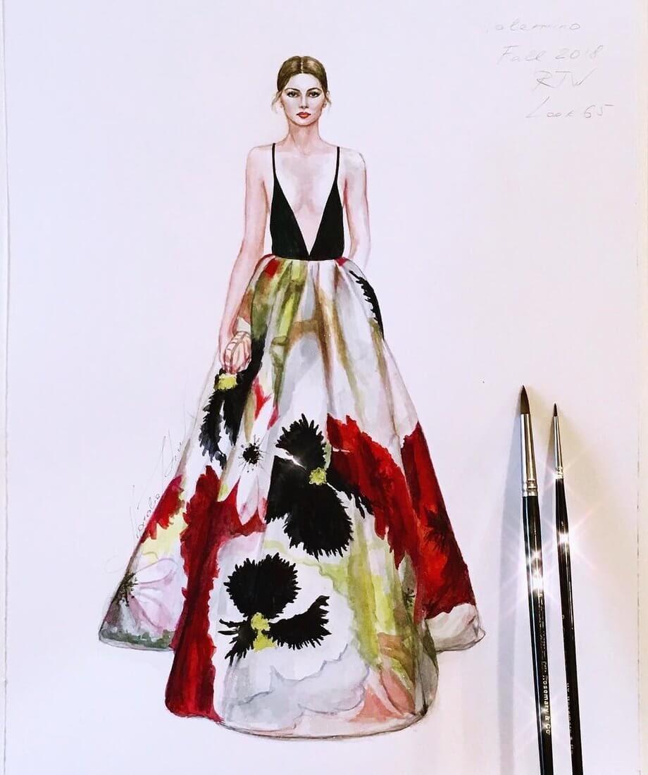 14-Valentino-Fall-2018-NataliaZ-Liu-Designs-of-Fashion-Haute Couture-www-designstack-co