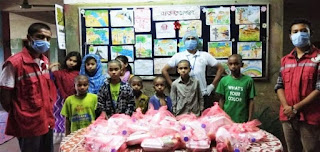 পথশিশু ও অনাথ শিশুদের পুষ্টি সমৃদ্ধ খাবার দিল রেড ক্রিসেন্ট চট্টগ্রাম