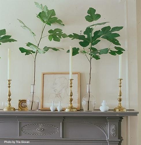 Mantel Arrangements: Jeffrey Harris Design: Chic Fireplace Mantel Arrangements