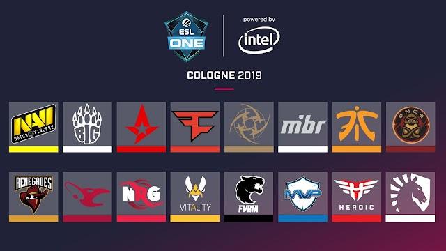 賞金総額30万ドル「ESL One Cologne 2019」に出場する16チームが決定、Liquid、Astralis含む世界ランキング上位のチームが出場