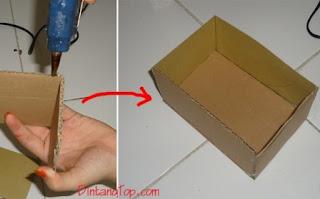 membuat box dari kardus kecil