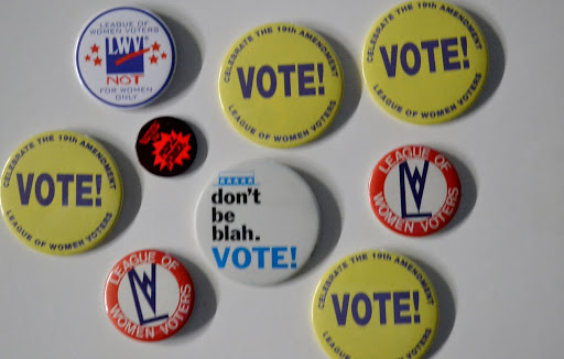 League of Women Voters buttons