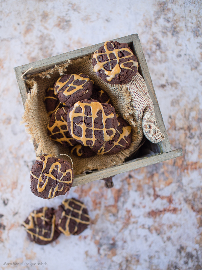 Galletas de chocolate saludables. Vídeo receta