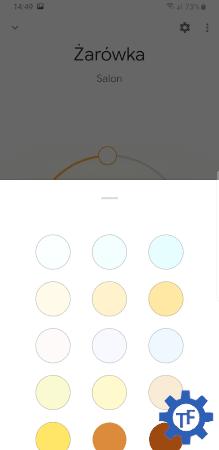 Zmiana koloru światła