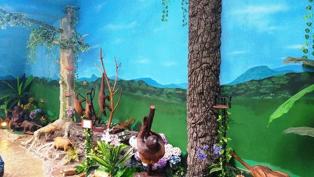 Espaço das Esculturas que falam nos Bondinhos Aéreos, no Parque da Serra, em Canela, na Serra Gaúcha