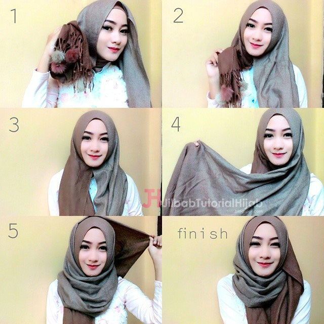 20 tutorial hijab pashmina 2017 pesta modern