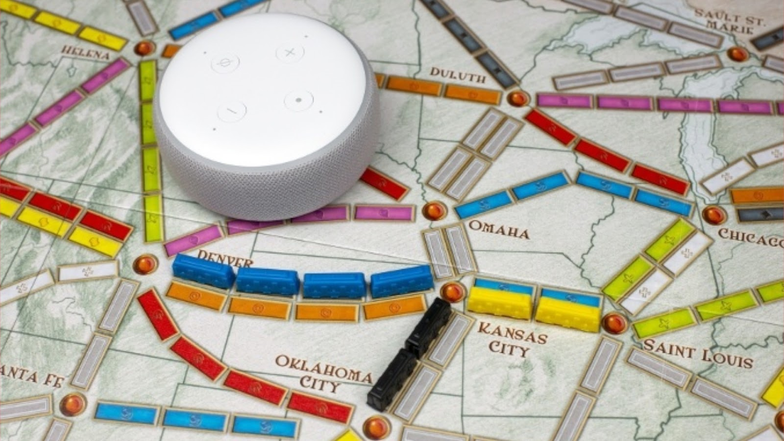 Board Game News Collider Amazon Alexa plays Ticket to Ride