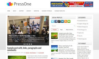 PressOne Blogger Template