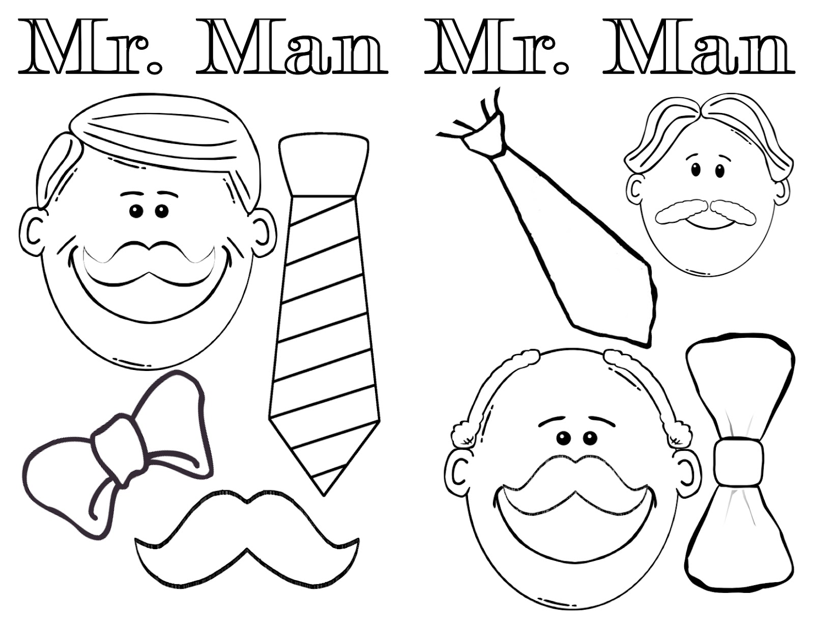 Just peachy mister man for Moustache coloring pages