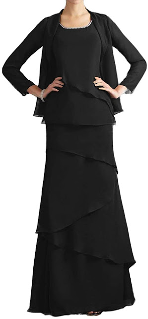 Unique Black Mother of The Groom Dresses