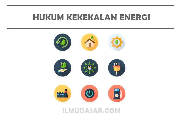 """""""energi tidak dapat diciptakan ataupun dimusnahkan, melainkan hanya bisa diubah. Hukum Kekekalan Energi : Pengertian, Bunyi, Rumus, Soal"""