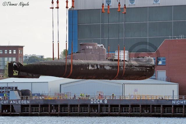 Los submarinos  (U17 y U18)  adquiridos por Colombia fueron desplazados en el Puerto de Kiel