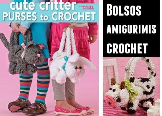 bolsos, infantil, amigurimi, tejer, crochet, ganchillo