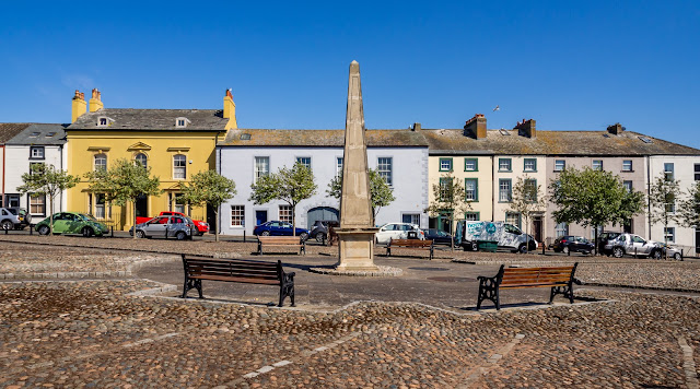 Photo of Fleming Square, Maryport, in glorious sunshine
