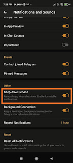 Enable Keep-Alive Service