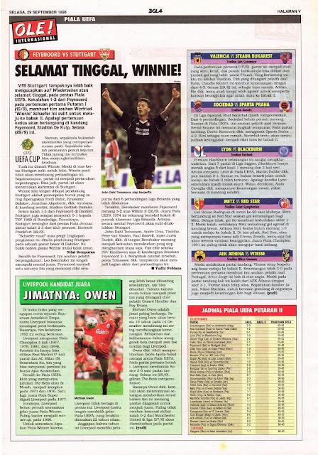 UEFA CUP FEYENOORD VS STUTTGART GOODBYE WINNIE