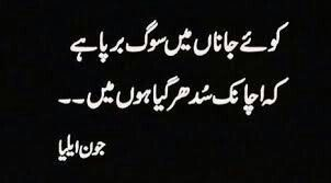 jaun elia sad poetry in urdu