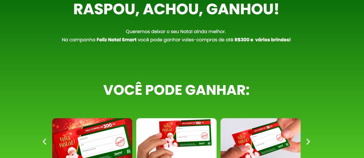 Promoção Natal 2020 Smart Supermercados Raspou Achou Ganhou Vales-Compras e Brindes Raspadinha