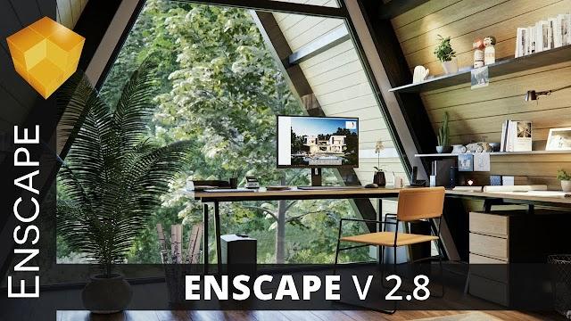 Enscape 3D 2.8 pour Revit / SketchUp / Rhino / ArchiCAD