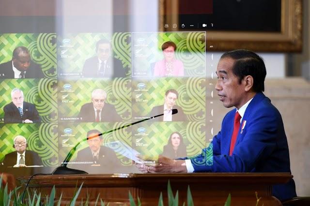 KTT Informal APEC, Jokowi Serukan Dunia Perkecil Kesenjangan Vaksinasi