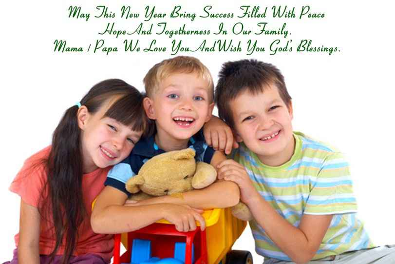 happy new year 2018 quotes for kids from parents