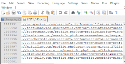 Spam backlinks