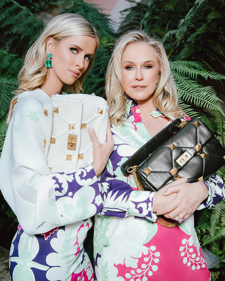 Kathy Hilton, Paris Hilton & Nicky Hilton for VALENTINO