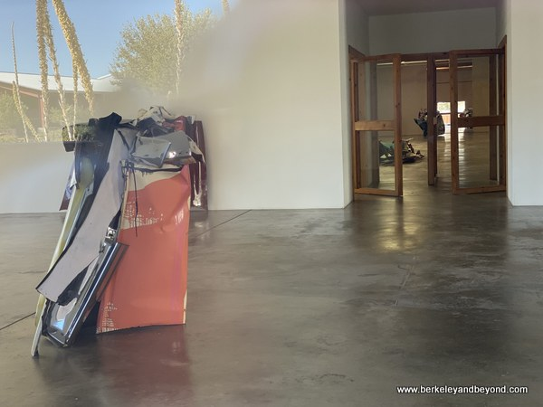exhibit of John Chamberlain pieces at downtown Chinati Foundation center in Marfa, Texas