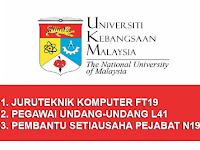 Jawatan Kosong Universiti Kebangsaan Malaysia UKM