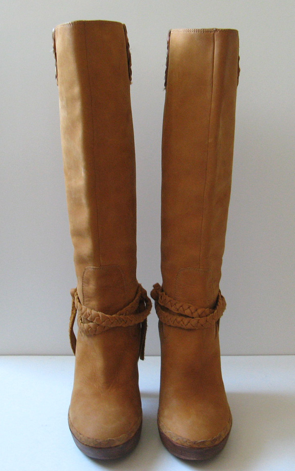 Tall Brown Leather Cole Haan Boots Nike Air Womens Size 7 5