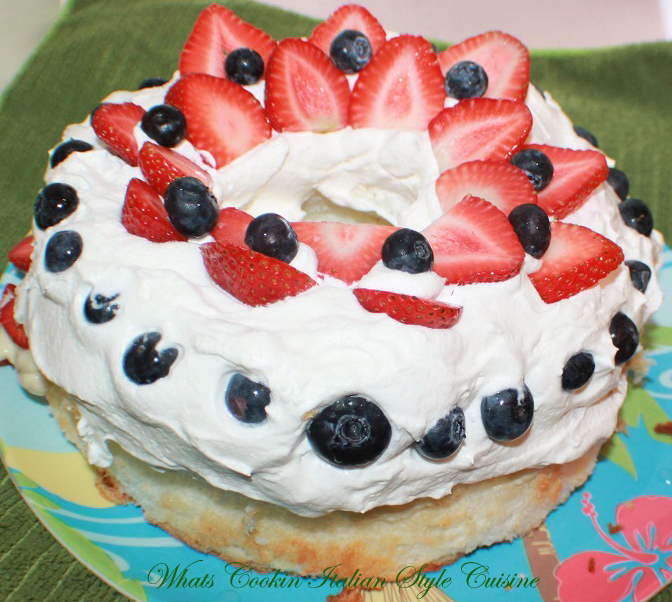 ... ' Italian Style Cuisine: Strawberry Blueberry Cream Angel Food Cake