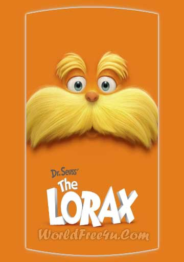 Poster Of Free Download The Lorax 2012 300MB Full Movie Hindi Dubbed 720P Bluray HD HEVC Small Size Pc Movie Only At worldfree4u.com