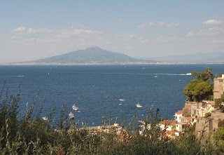Vesuvius seen from Sorrento across the Bay of Naples