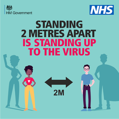 standing 2 metres apart is standing up to the virus