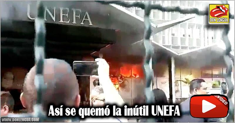 Se quemó la planta baja de la sede principal de la UNEFA