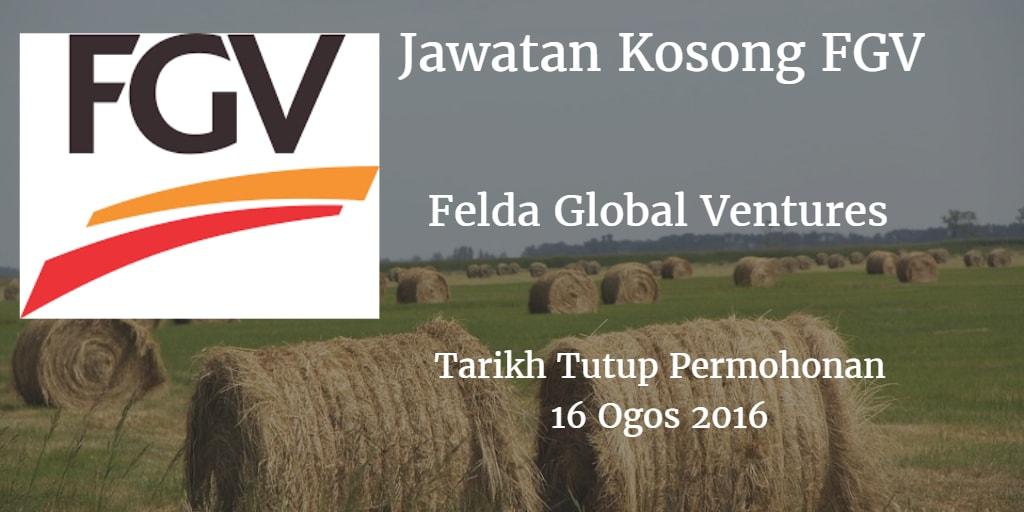 Jawatan Kosong FGV 16 Ogos 2016