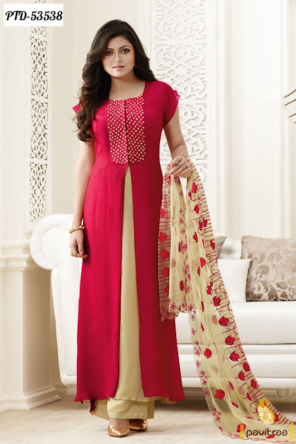 Tv actress Madhubala Drashti Dhami pink color santoon Indian designer salwar kameez and dresses online with discount offer price at pavitraa.in