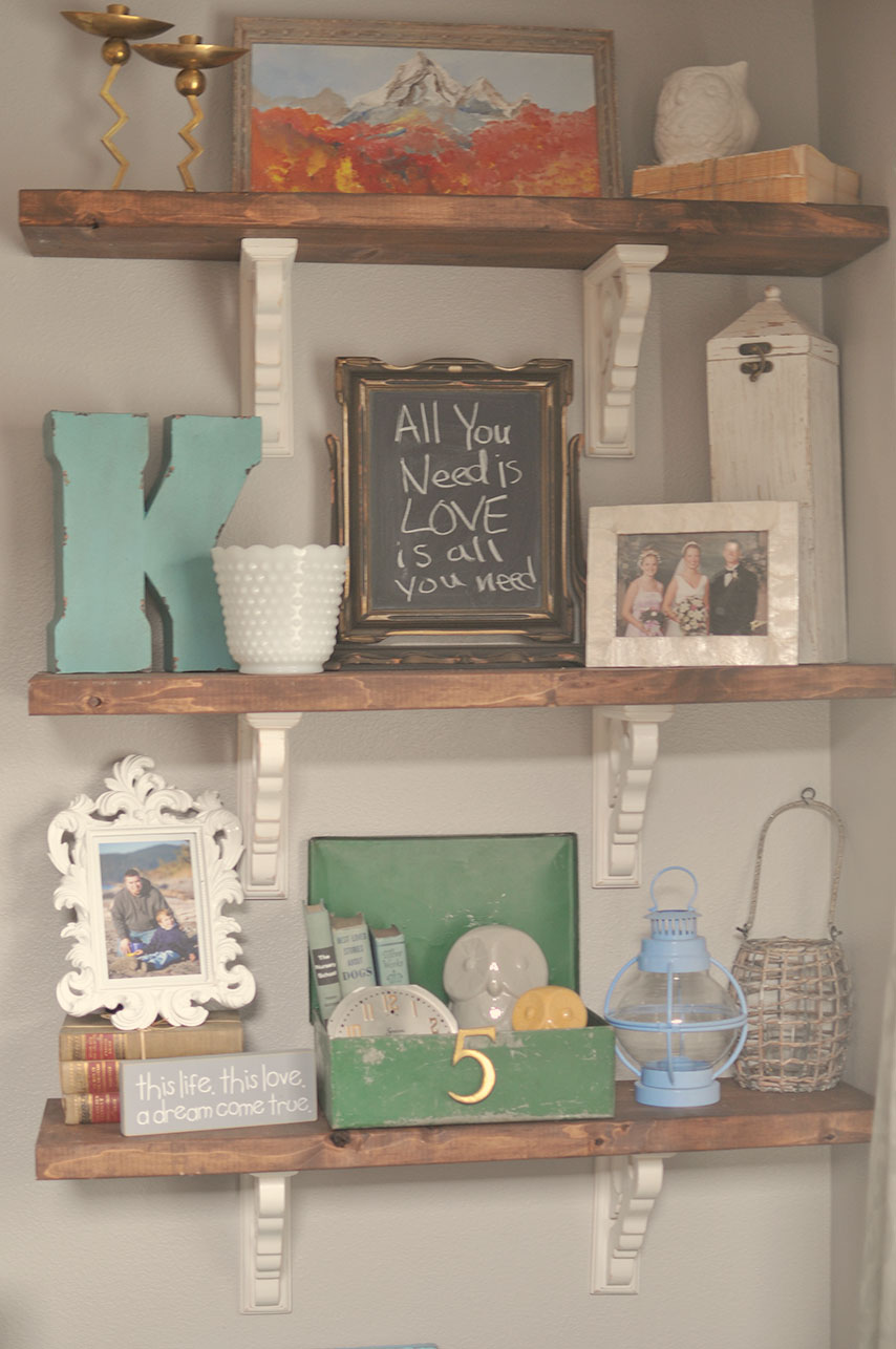 Little Gray Table: Rustic Shelves Tutorial
