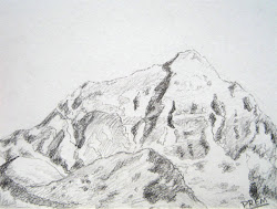 mountain mountains simple sketch sketches drawing everest draw mount face north its