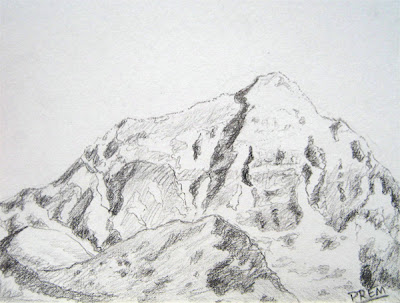Drawing of a Mountain
