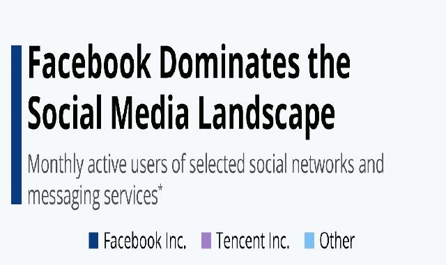 Facebook Inc. Dominates the Social Media Landscape #infographic