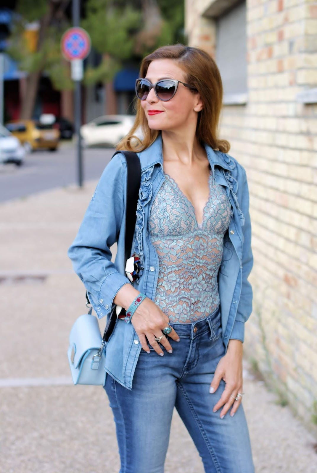 The lingerie on display trend: Cosabella lace bodysuit on Fashion and Cookies fashion blog, fashion blogger style